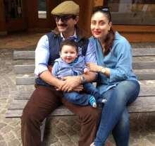 Saif and Kareena with Taimur