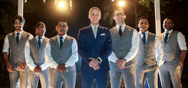 Brent Goble with his groomsmen