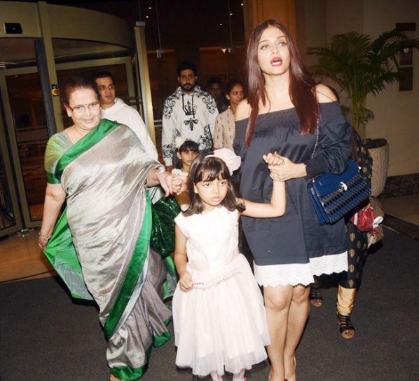 Vrinda Rai, Aaradhya Bachchan, Aishwarya Rai Bachchan