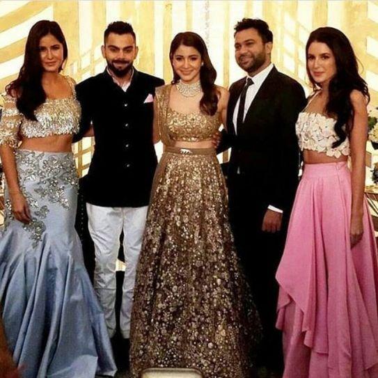 Katrina Kaif, Virat Kohli, Anushka Sharma, Ali Abbas Zafar, Isabelle Kaif