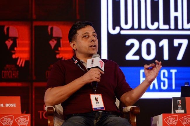 Author and activist Anuj Dhar speaking at India Today Conclave East 2017
