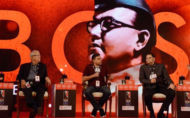 BJP leader Chandra Bose, grand nephew of Netaji Subhas Chandra Bose, author and activist Anuj Dhar and academic Prof DN Bose at India Today Conclave East 2017
