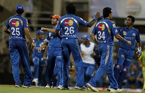 Mumbai Indians head to the field