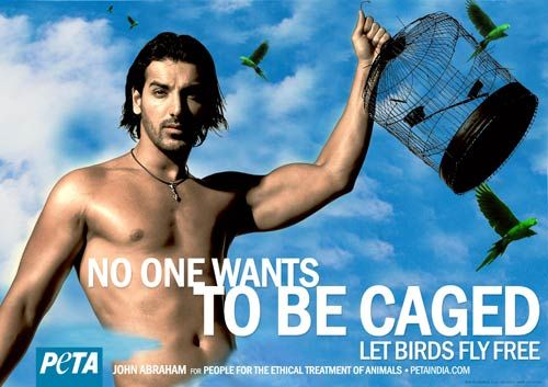 John Abraham in PETA advertisement