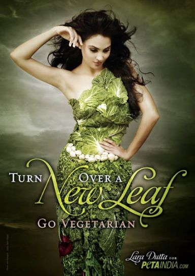 Lara Dutta in PETA advertisement