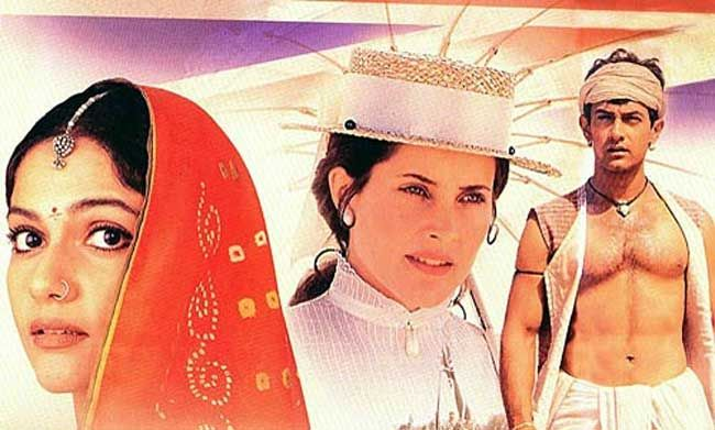 Rachel Shelley on blockbuster Lagaan's poster.
