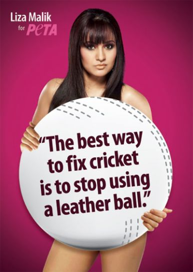 Liza Malik in PETA advertisement