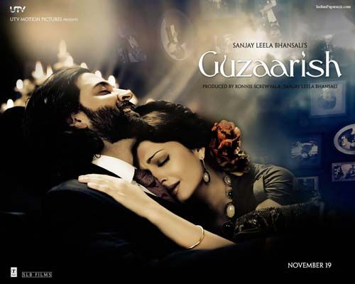 Aishwariya Rai Bachchan and Hrithik Roshan in Guzaarish