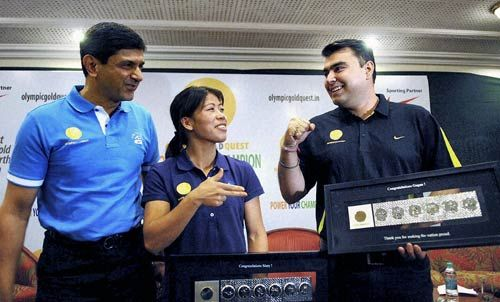 Mary Kom, Gagan Narang, Prakash Padukone at a function