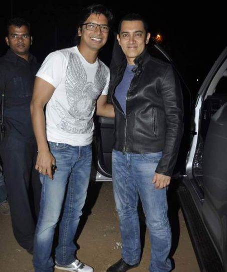 Aamir Khan and Shaan.