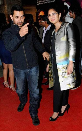 Aamir Khan and his wife director Kiran