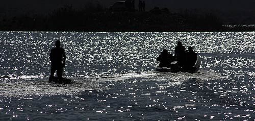 Youths participate in water sports during the Bhoj Adventure Festival - 2011 in Bhopal.