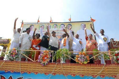 National BJP President Nitin Gadkari