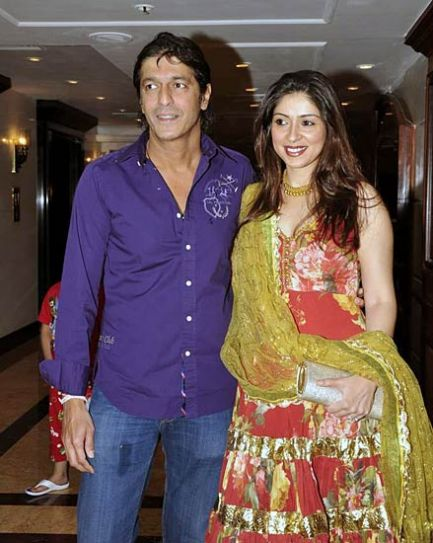 Chunky Pandey and Bhawna