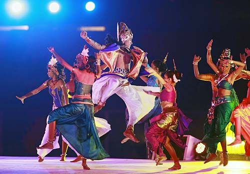 Dancers perform at the opening ceremony
