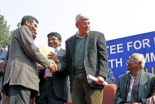 Prakash Karat, Ramvilas Paswan and A.B Vardhan