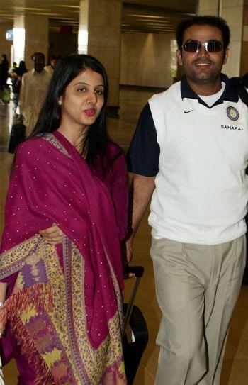 Aarti Ahlawat and Virender Sehwag