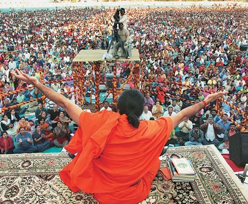 Baba Ramdev's yoga camps