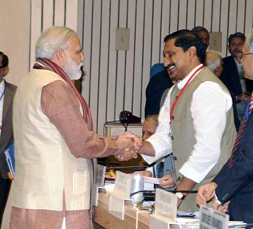 Narendra Modi and Kiran Reddy