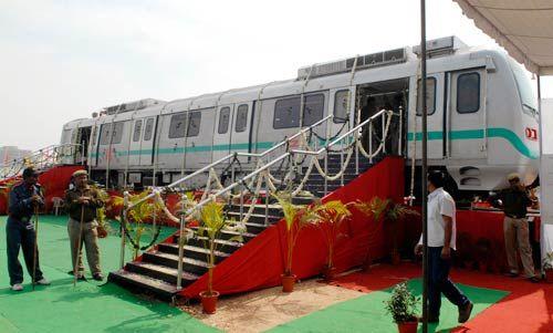 Jaipur Metro Rail coach.