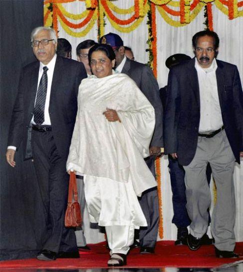 Veerappa Moily, Mayawati and S Y Quraishi