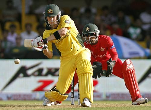 Australia's Michael Clarke during his innings on 58 not out
