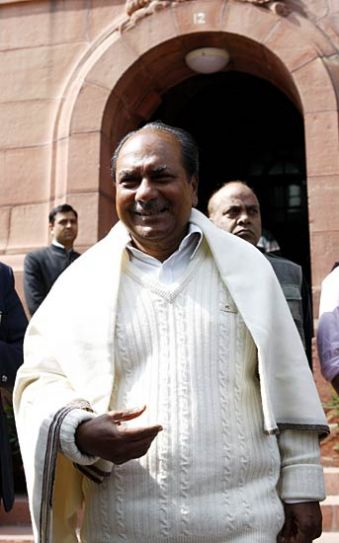 Indian Defence Minister, A. K. Antony
