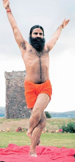 Baba Ramdev at his Scottish Island.