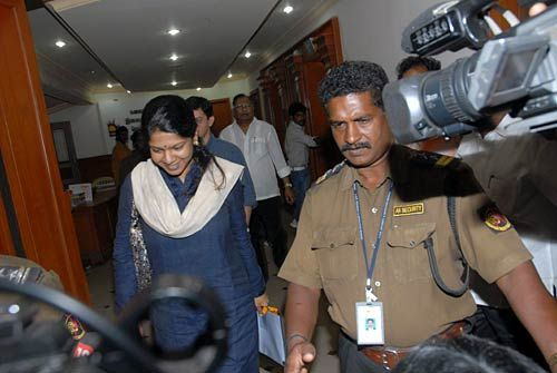 A CBI team questioned Kanimozhi over 2G scam