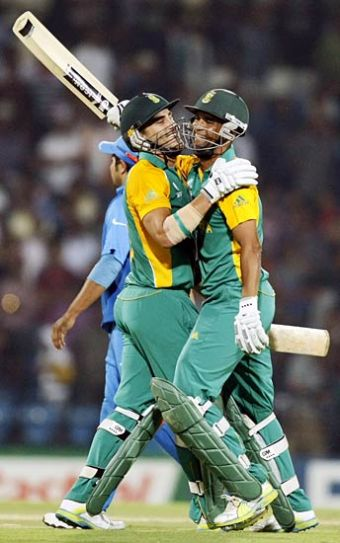 Faf du Plessis and Robin Peterson
