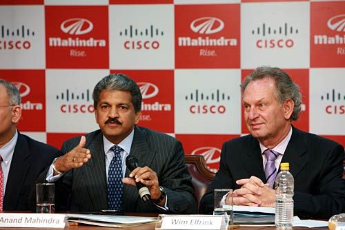 Anand Mahindra and Wim Elfrink