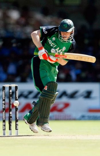 Ireland batsman Niall O'Brien en route to his 46