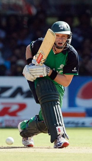 Ireland captain William Porterfield looks for a single