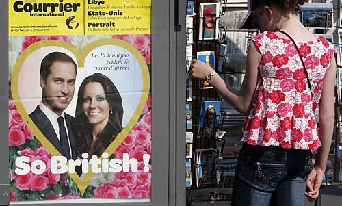 Prince William, Kate Middleton, Westminster Abbey, England, Royal Wedding, poster, Promenade des Anglais, newsstand