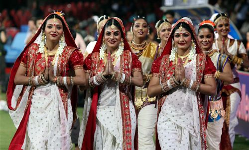 Pune cheerleaders during an IPL match against Bangalore