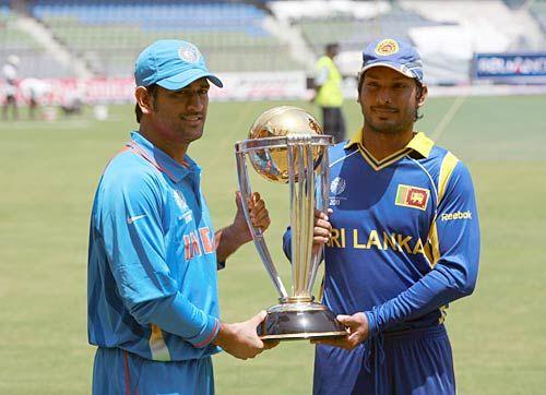 India skipper Mahendra Singh Dhoni and his Sri Lankan counterpart Kumar Sangakkara