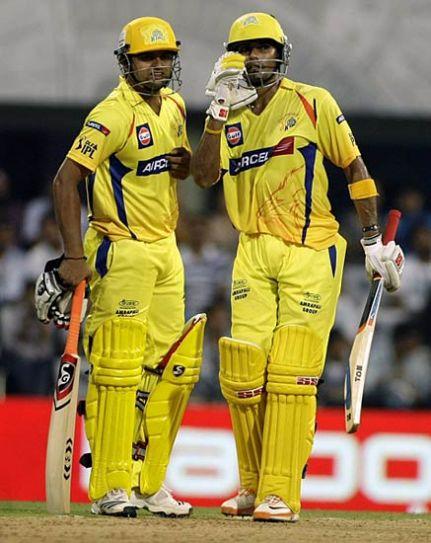 Chennai batsman Suresh Raina and Subramaniam Badrinath