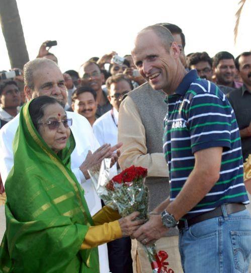 Gary Kirsten, Pratibha Patil