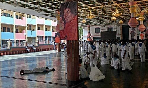 Paying homage to Sathya Sai Baba