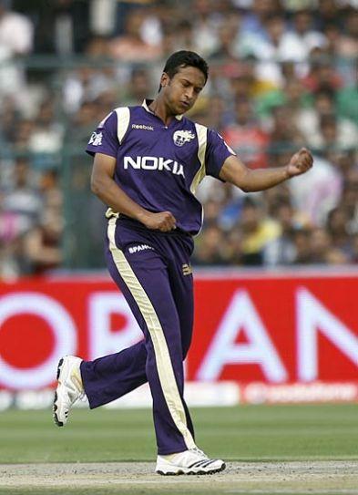Kolkata left-arm spinner Shakib Al Hasan