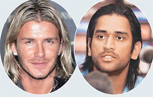 David Beckham and Mahendra Singh Dhoni