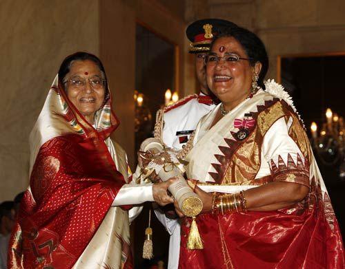 President Pratibha Devisingh Patil confers Padma awards at Rashtrapati Bhavan in New Delhi