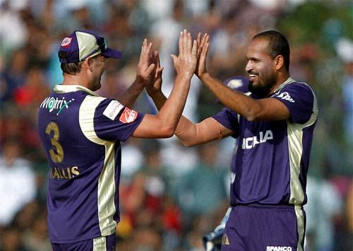 Yusuf Pathan and Jacques Kallis