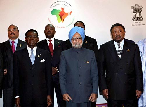 Manmohan Singh at the Africa India Forum Summit