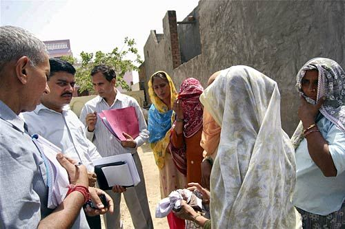 NHRC team meets villagers in Bhatta Parsaul