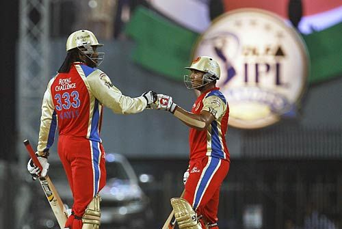 Bangalore's Chris Gayle and Mayank Agarwal
