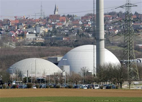 Nuclear plant of Neckarwestheim, southern Germany