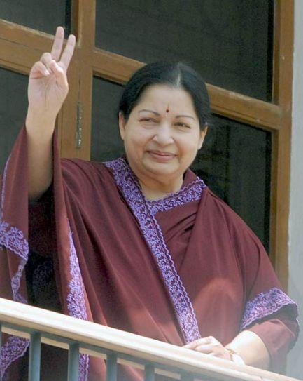 AIADMK chief J. Jayalalithaa