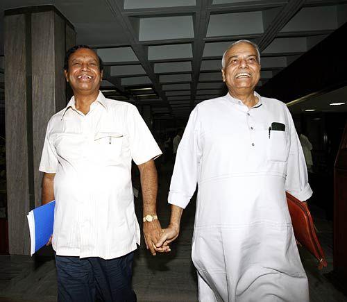 T R Balu and Yashwant Sinha