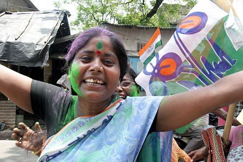 Trinamool Congress workers